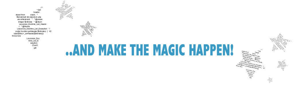 ..and make the magic happen!